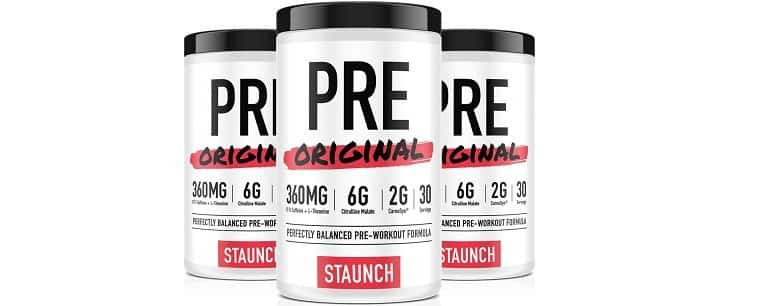Creatine Free Staunch Pre Workout