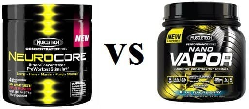 Nanovapor vs Neurocore Pre workout