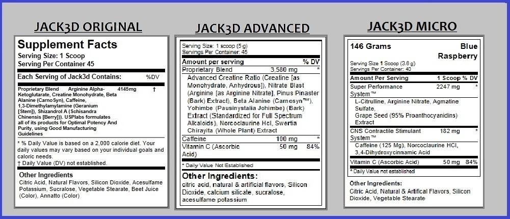 USP Labs Jack3d - Original vs Advanced vs Micro