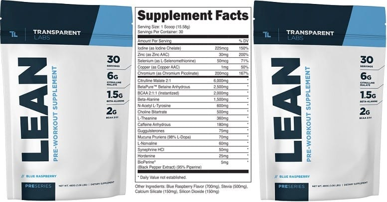 Transparent Labs Lean Pre Workout