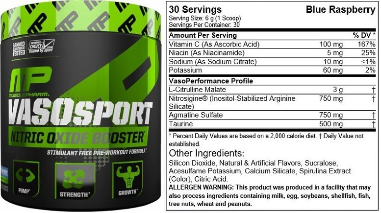 VasoSport Stim-free