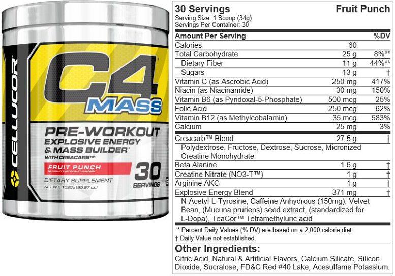 C4 Mass Pre Workout