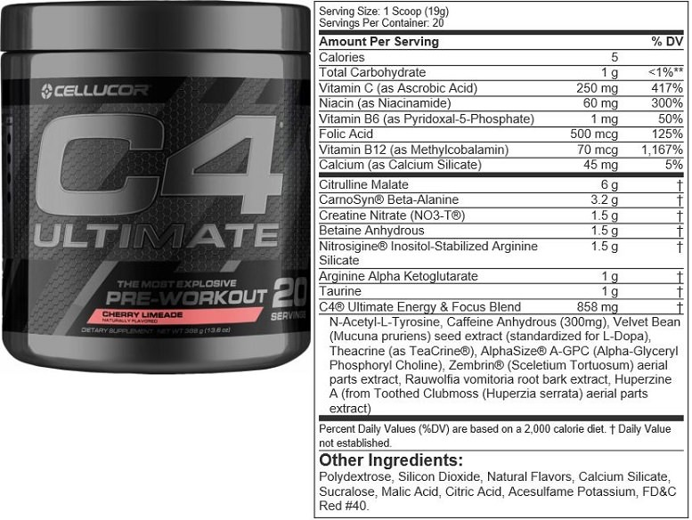 C4 Ultimate Pre Workout Review