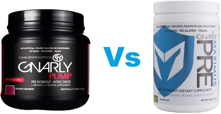 Gnarly Nutrition Pre Workouts Gnarly Pump Vs Maximus Pre