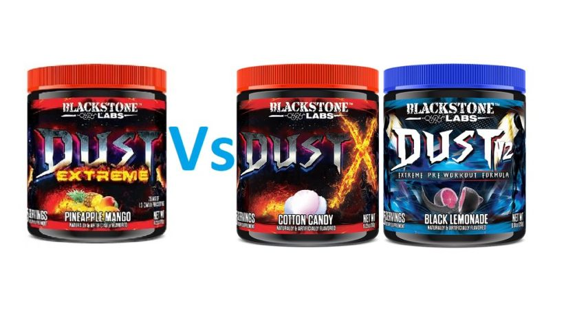 Dust X compared to Dust Extreme and V2