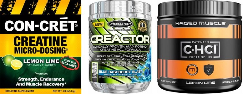 Different types of creatine hcl