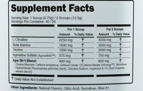 Ape Shit Ingredients