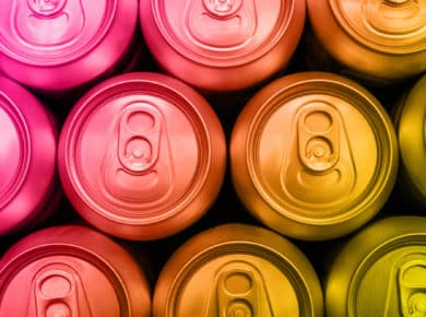 image of energy drink cans